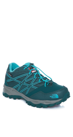 The North Face Hedgehog Hiker WP Shoes Junior botanical garden green/ion blue